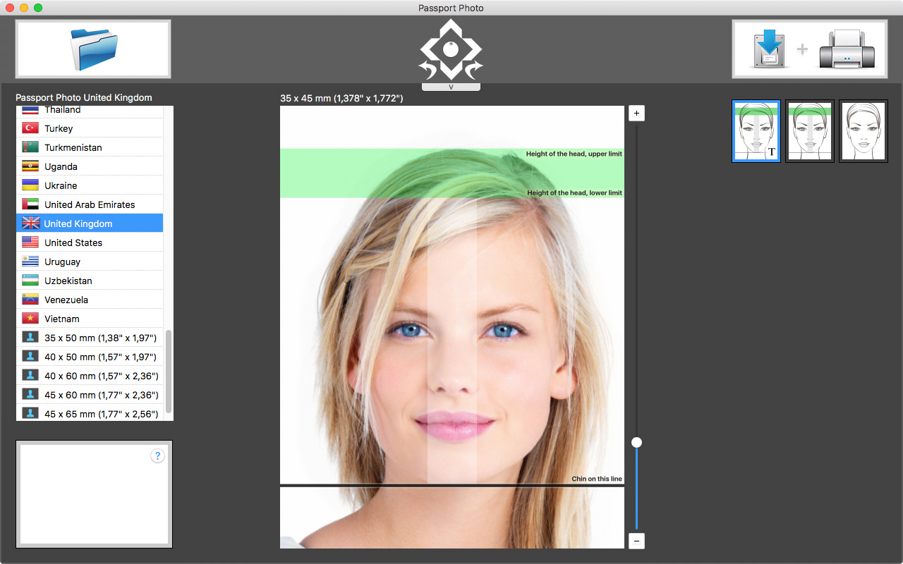 Biometric Passport Photo Template