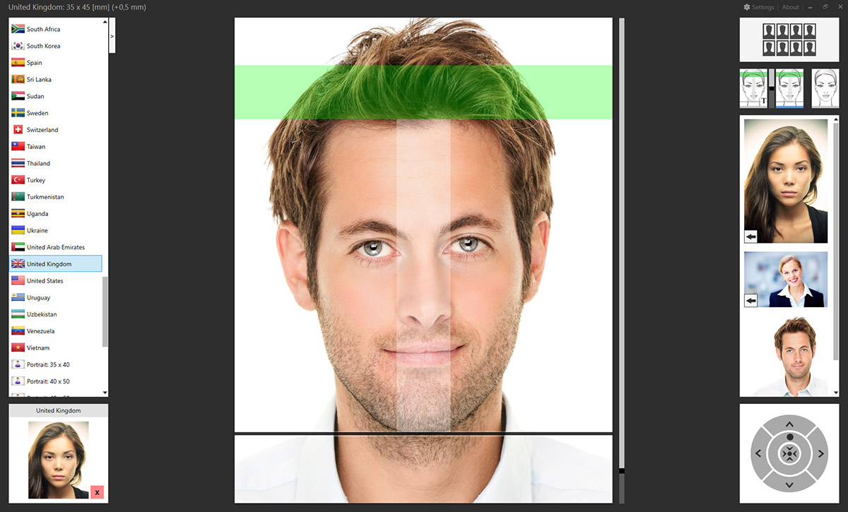 Create two different passport photos